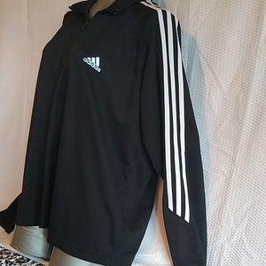 Adidas 3 Stripe half-zip pullover size XL women's
